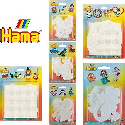 Hama Bead Boards, Assorted Shapes Peg Boards Blister Pack Gift, Girls Boys Kids