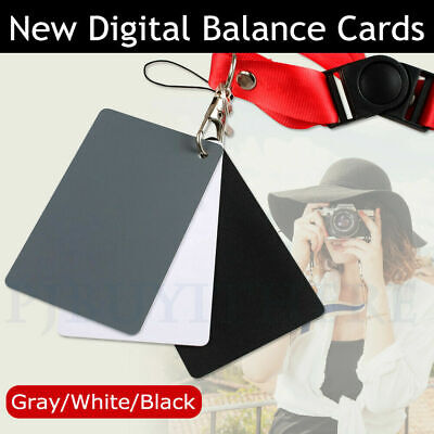 3 in 1 18% Digital Photography Exposure Color Balance Card Set Gray&White&Black-