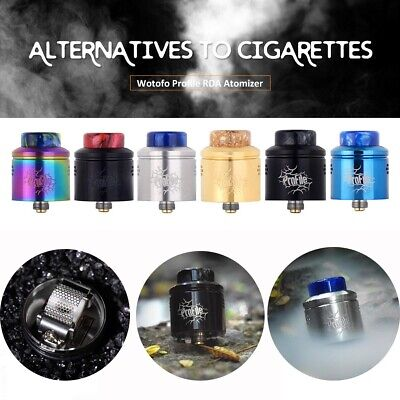 Authentic Wotofo Profile RDA E-Atomizer w/ Side Airflow 24mm Mesh for Cigarette