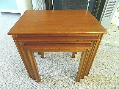 Retro Mid/Late 20thc Century Set/Nest of 3 Coffee Tables Teak