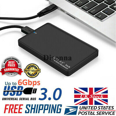 For 2TB External Hard Drive Disk Case Box 2.5'' SATA to USB3.0 High Speed UK