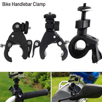 Bike Motorbike Handlebar Clamp Bracket Holder Mount for Action Camera Gopro ZZ