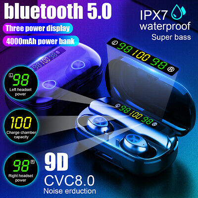 bluetooth 5.0 Headset TWS Wireless Earphones Twins Earbuds 5D Stereo Headphones