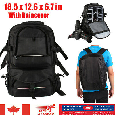 Large Waterproof Camera DSLR SLR Backpack Rucksack Bag Case For Nikon Sony Canon