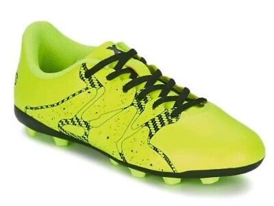 sports shoes 44c5b 15f5f NEW - adidas Youth Kids Yellow and Black X 15.4 FxG Soccer Cleats - Size 2.5