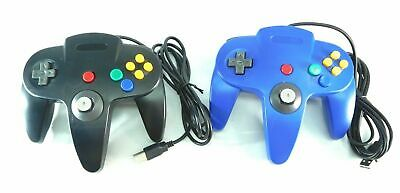 USB Wired Controller Joystick Gamepad for PC & Mac Computers Blue & Black 2 Pcs
