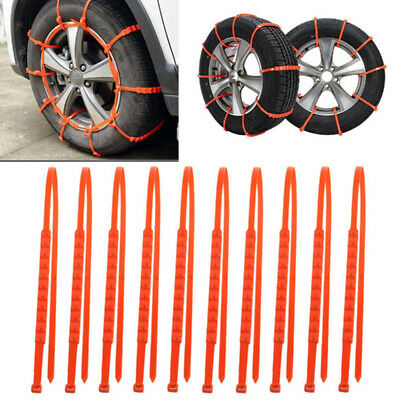 10x/Lot Pro Anti-skid Chains Car Snow Mud Wheel Tyre Thickened Tire Tendon Tools