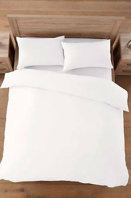 200 Thread Count 100% Egyptian Cotton Plain Duvet Set With Free Pillow Cases