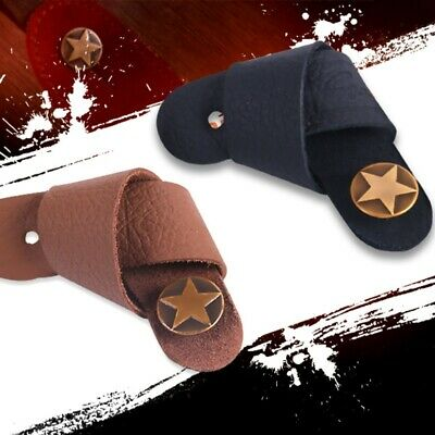 1X Acoustic Guitar Bass Neck Strap Button Hook Tie Headstock Adaptor Leather