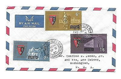 Malta ( 1St European Congress Doctors ) 1964 Set of 3 stamps on First Day Cover