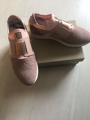 9e5c80a3f Womens Ted Baker Kygoa Runners Light Pink Leather Trainers Shoes Size 6