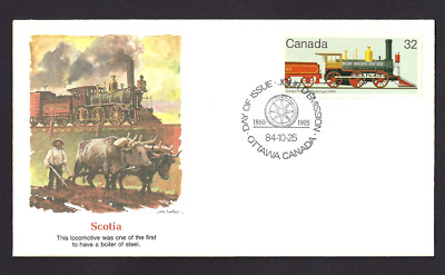 Canada   # 1036   Fleetwood Canadian Locomotive Cover     New 1984 Unaddressed