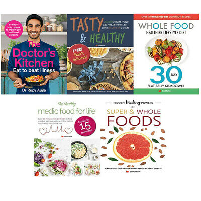The doctors kitchen by dr rupy aujla,Tasty & Healthy 5 Books Collection Set Book