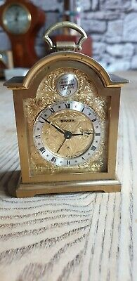 Vintage SWIZA 8 Day Domed 'Tempus Fugite' Carriage Clock mechanical..Swiss made