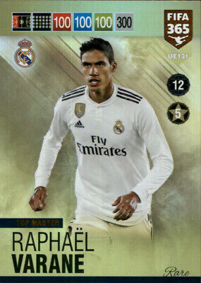 2019 PANINI ADRENALYN XL FIFA 365 UPDATE * TOP MASTER RARE * Varane UE131 REAL