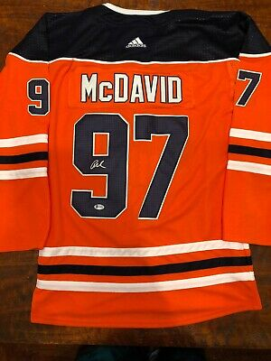 new styles db739 45d64 CONNOR MCDAVID SIGNED Edmonton Oilers Jersey Beckett BAS Coa Autographed