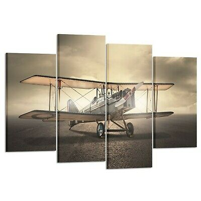 Kreative Arts 4 Pieces Vintage Aircraft Wall Art Giclee Canvas Prints Old... New