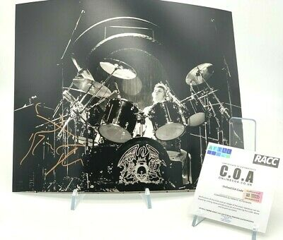 ROGER TAYLOR Signed 11x14 Photo QUEEN AFTAL OnlineCOA