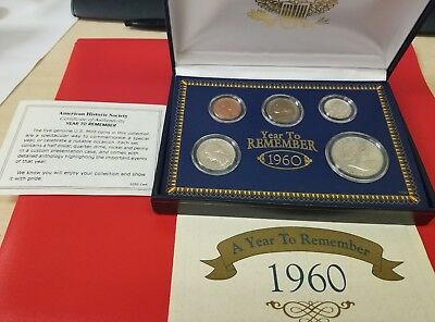 A Year to Remember - 1960 U.S. Original Coin Set! In box. 90% silver.