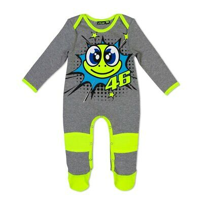 New - VR46 2019 Valentino Rossi Baby Overall/Baby Grow - Turtle Grey 24 Month