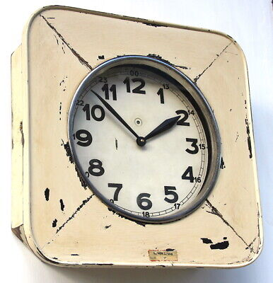 EAST GERMAN1950s Eastern Bloc Midcentury Factory Retro Vintage Industrial Clock