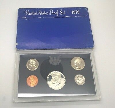 1970 S United States Mint Proof Set In Box 1970-S Silver Clad Kennedy 50C Coin