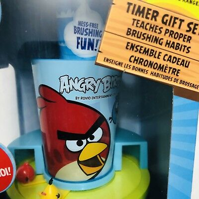 Angry Birds Firefly Timer Gift Set Teaches Proper Brushing Habits Collectible