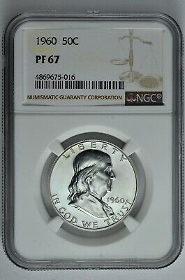 1960 50c Silver Proof Franklin Half Dollar NGC PF 67