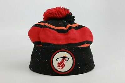 7d61211b1d4 Miami Heat Black Red Multi Color NBA New Era Skully Beanie Pom NEW NWT MH NE