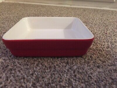 Small Marks And Spencer Ceramic Dish. Red And White