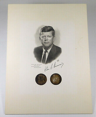 "1964 Kennedy Half Dollar- Toned- ""Ask Not What Your Country..."" Memorial Display"