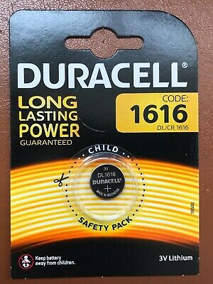 1x Duracell CR1616 3V Lithium Coin Cell Battery DL1616 1616 LONGEST EXPIRY DATE