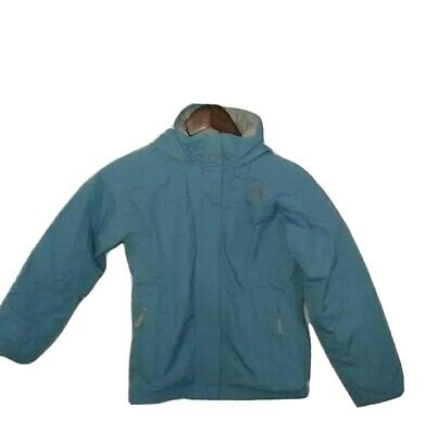 Light Blue Jacket, Girls M, The North Face Windbreaker with Hood