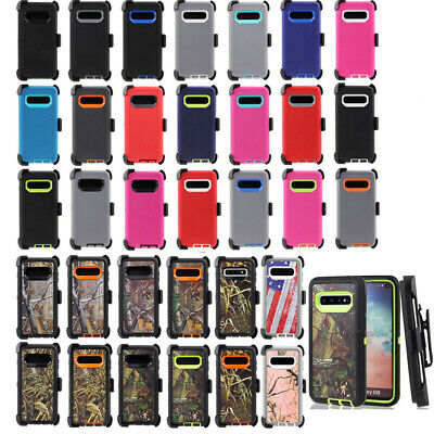 For Samsung Galaxy S10+ Plus Defender Case Rugged Cover Clip fit Otterbox Series