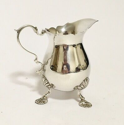 Antique Vintage 1968 Solid Sterling Silver Milk or Cream Jug Lowe Chester