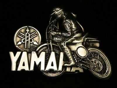 Rc13138 Vintage 1980 Cut-Out **Yamaha** Motorcycle Solid Brass Baron Belt Buckle