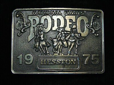 Rc13153 Vintage 1975 Nfr ***National Finals Rodeo*** Hesston Collector Buckle