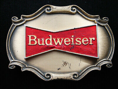 Rh01117 Vintage 1978 **Budweiser** Beer Advertisement Raintree Belt Buckle