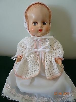 """10"""" Pedigree Hard Plastic  Bent Leg Baby Doll In Beautiful Outfit"""