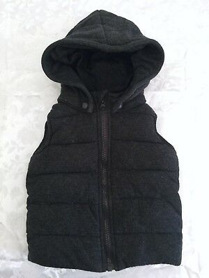 Lily & Dan Baby Boys Hooded Sleeveless Puffer Jacket With Removable Hood Size 0