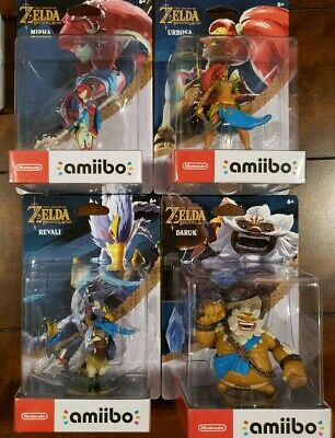 Legend of Zelda Breath Of The Wild Champion Amiibo Revali Mipha Urbosa Daruk NEW
