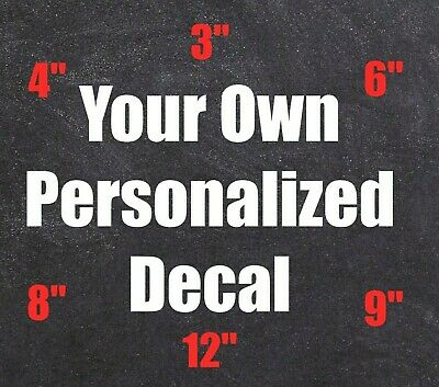 734281d237 Custom Personalized Vinyl Decal Sticker Lettering Name Car Window Business  Cup