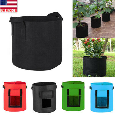 1 Pack Grow Bags Fabric Pots Root Pouch with Handles Planting Container 5 Gallon