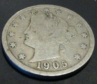 1905 Liberty V Nickel With Cents - FREE U.S. SHIPPING!!!