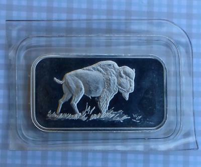 American Buffalo / Bison 1 Ounce .999 Fine Silver Art Bar, 1 oz Silver Bar