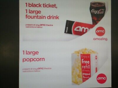 1 AMC Theaters Ticket + 1 Large Popcorn + 1 Large Drink - *FAST Email DELIVERY*