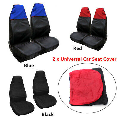 2x Good-looking Waterproof Car Front Seat Covers Universal  Protector Nylon+PVC