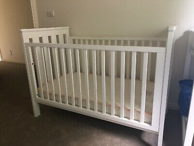 White Boori King Parrot Cot With Or Without Mattress