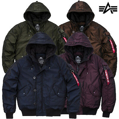 save off e0d77 3fb8f ALPHA INDUSTRIES MEN'S Winter Jacket Hunter Ll Bomber S to 3XL