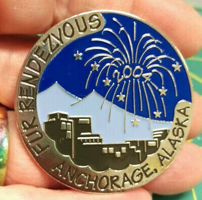 2004 Anchorage Alaska Fur Rondy Rendezvous LARGE Collector Pin CITY FIREWORKS